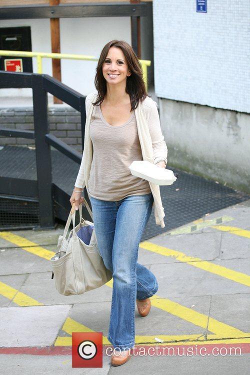 Andrea McLean outside the ITV studios London, England