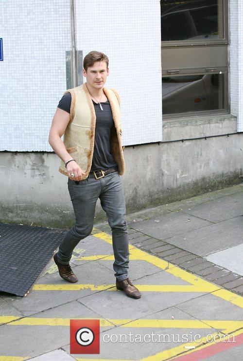 Lee Ryan outside the ITV studios London, England