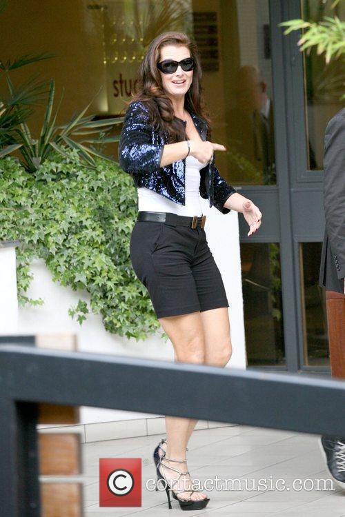Brooke Shields outside the ITV studios London, England
