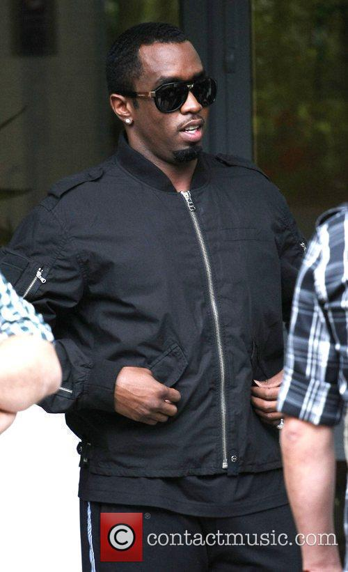 Diddy, aka Sean Combs, outside the ITV studios...