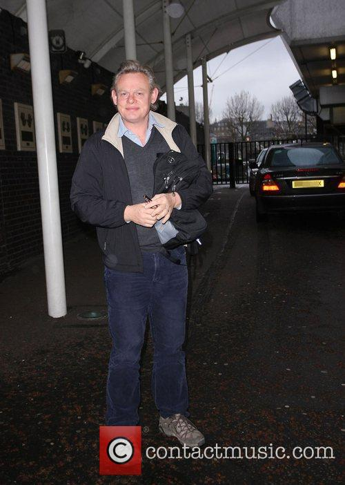 Martin Clunes outside the ITV studios London, England