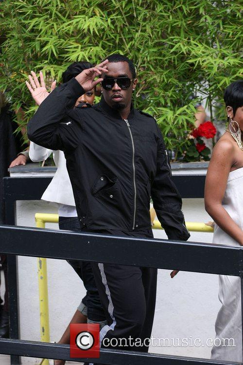 Diddy, aka Sean Combs, outside the ITV studios