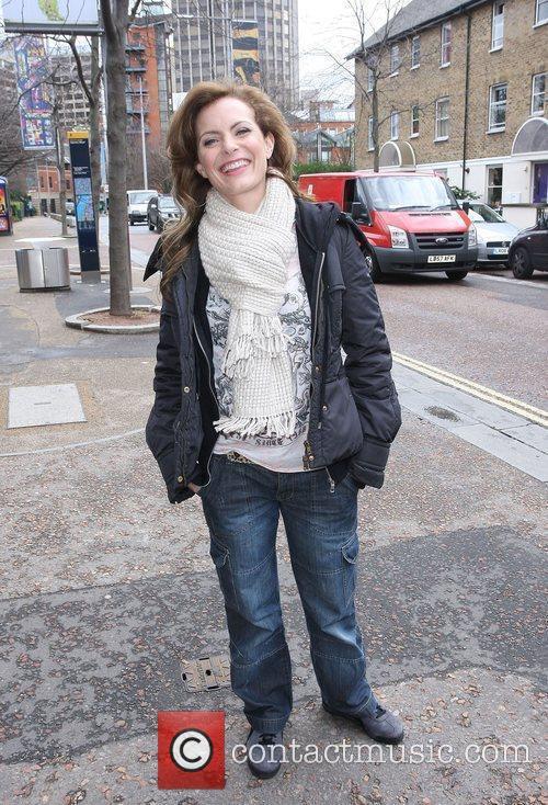 Tracy Shaw outside the ITV studios London, England