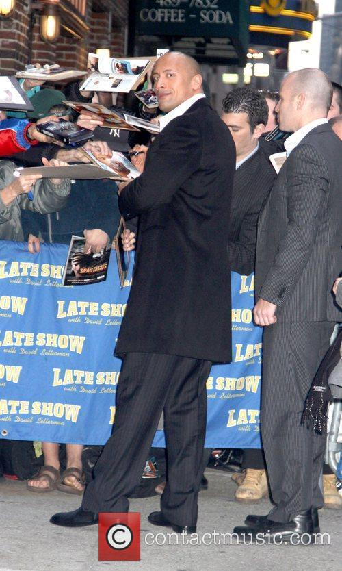 Dwayne Johnson, David Letterman