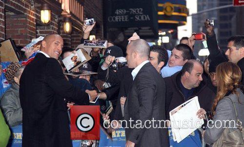 Dwayne Johnson and David Letterman 14