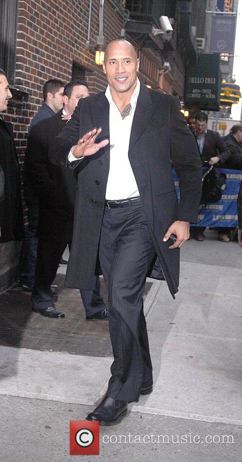 Dwayne Johnson and David Letterman 12