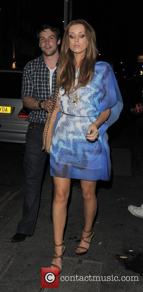 Una Healy from girl group The Saturdays, arriving...