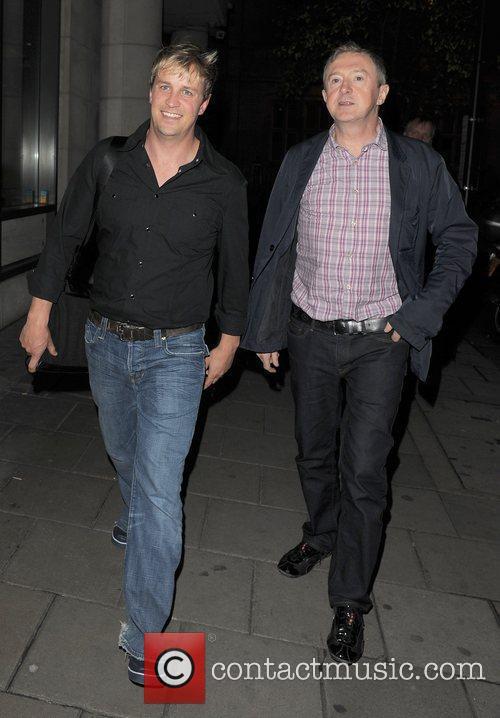 Kian Egan and Louis Walsh arriving at their...