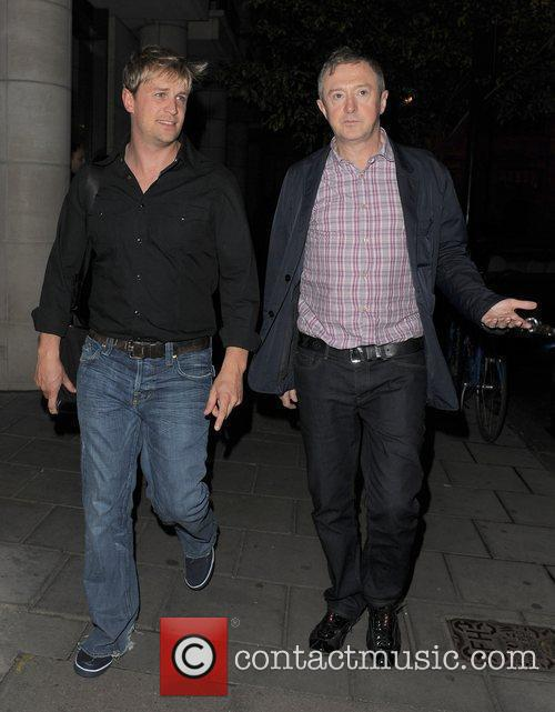 Kian Egan and Louis Walsh arriving at their...