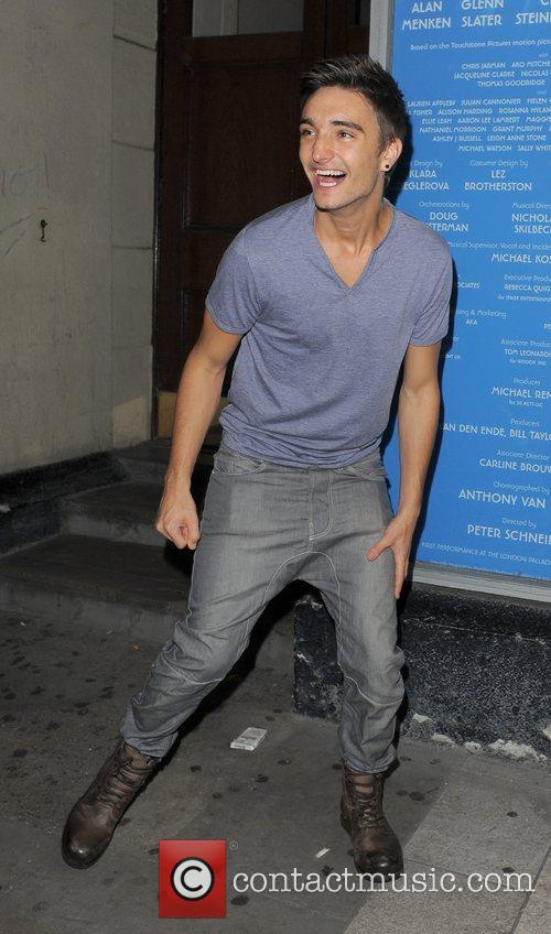 Tom Parker of The Wanted leaving Movida nightclub...