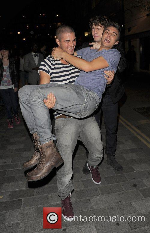 Max George, Jay McGuiness and Tom Parker of...
