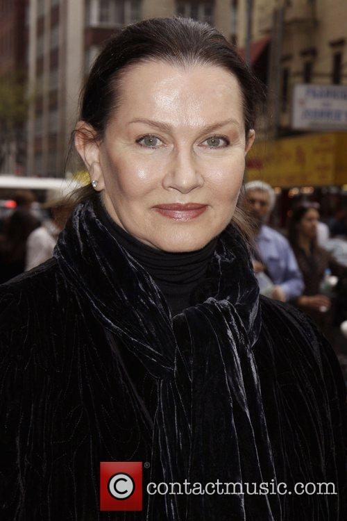 Veronica Hamel attending a matinee performance of the...