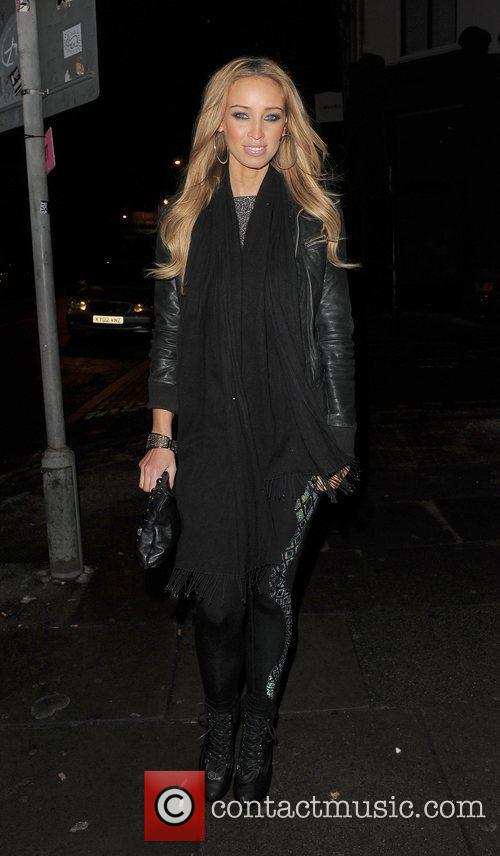 Lauren Pope leaving Shoreditch House. London, England