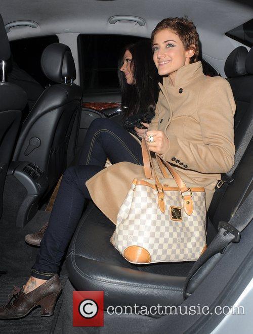 Former X Factor finalist Katie Waissel leaving Shoreditch...