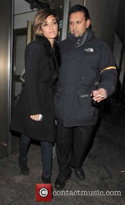 Frankie Sandford from girl group The Saturdays leaving...