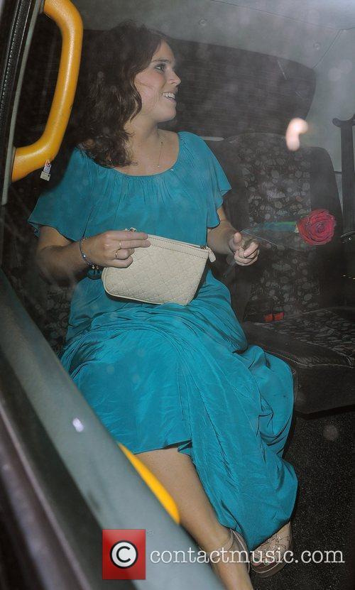 Princess Eugenie leaving Whisky Mist nightclub, with a...