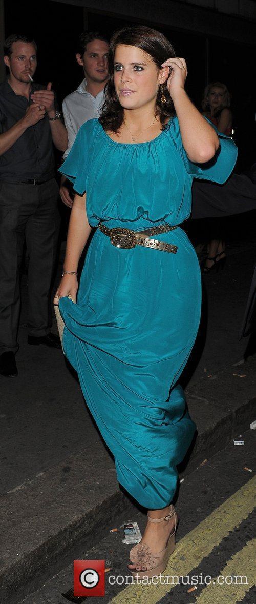 Princess Eugenie leaving Whisky Mist nightclub in a...