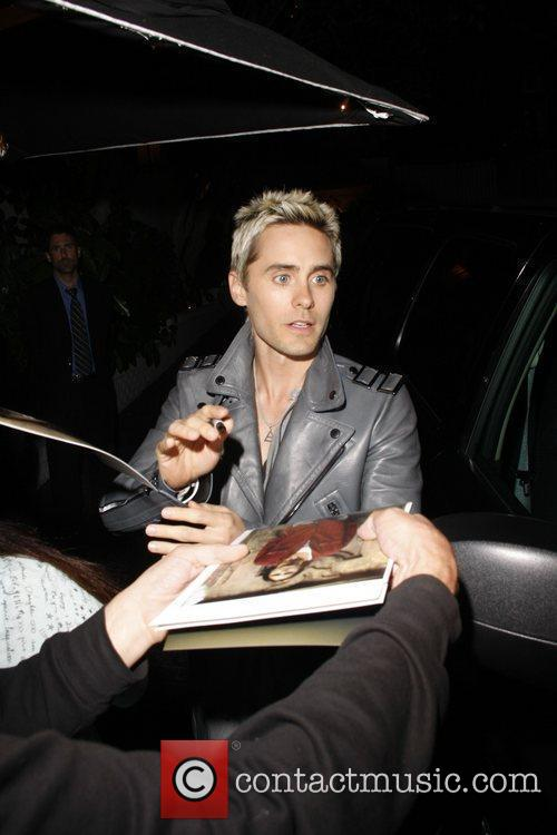 Jared Leto Celebrities outside Bar Marmont after attending...