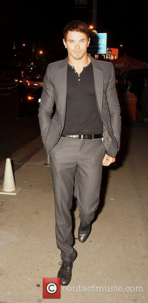 Leaving Boa Steakhouse in Hollywood after attending the...