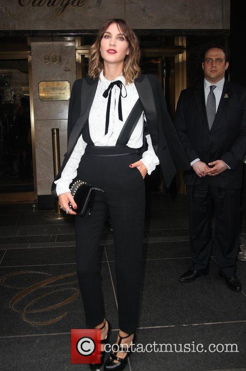 Alexa Chung leaves The Carlyle Hotel to attend...