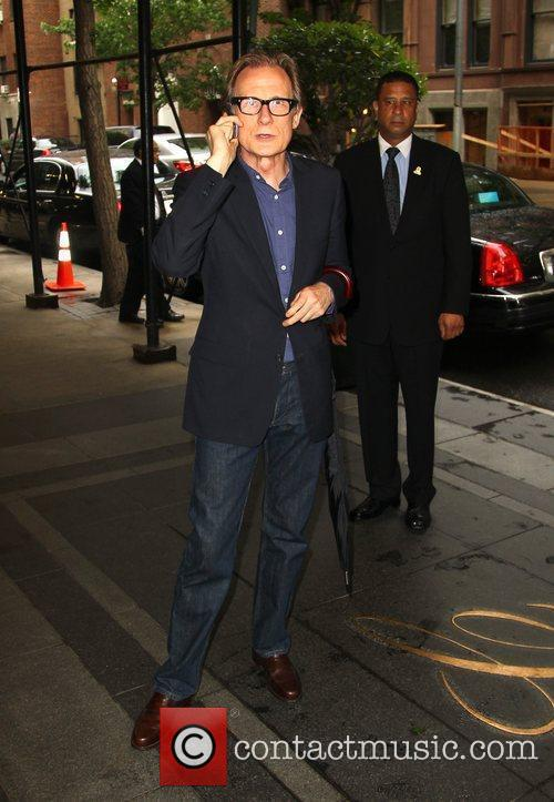 Bill Nighy leaves The Carlyle Hotel to attend...