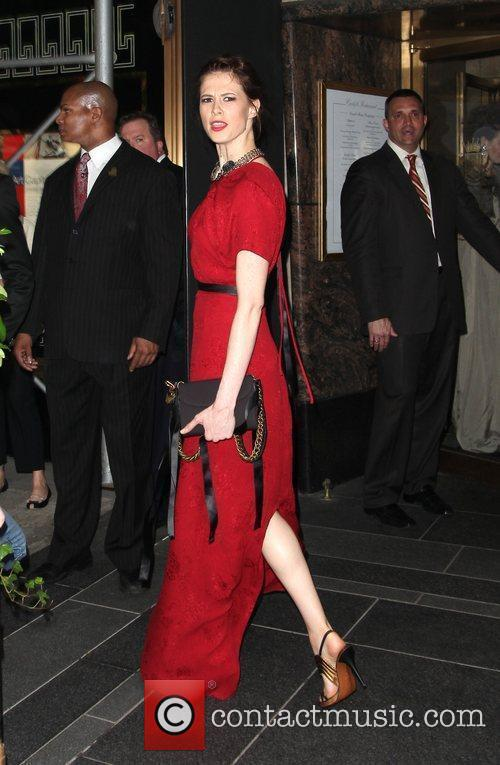Elettra Wiedemann leaves The Carlyle Hotel to attend...