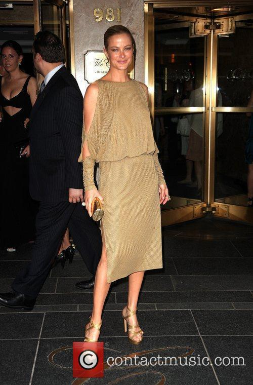 Guest leaves The Carlyle Hotel to attend The...