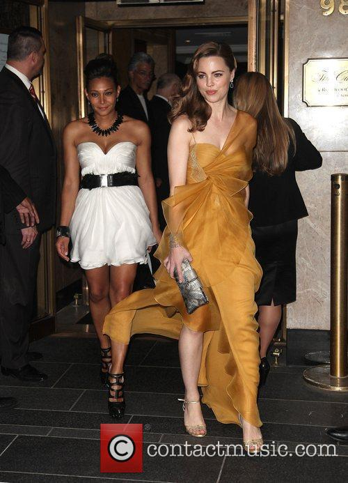 Leaves The Carlyle Hotel to attend The Costume...