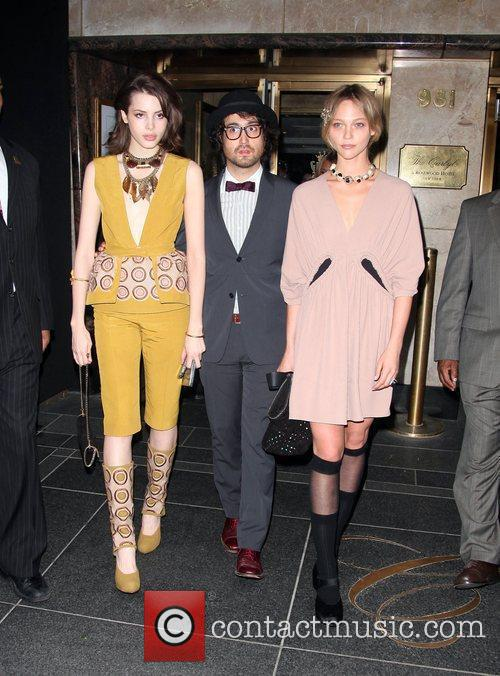 Sean Lenon and Kemp Muhl leave The Carlyle...