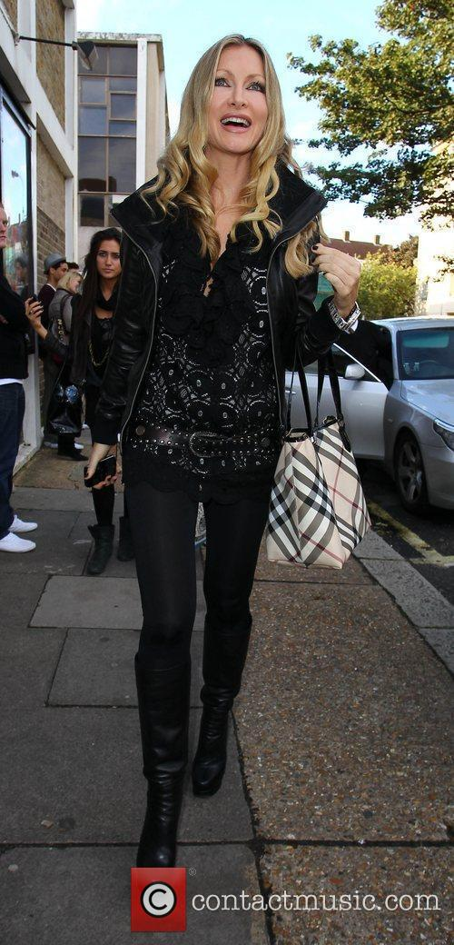 Caprice Celebrities arriving at a studio to film...