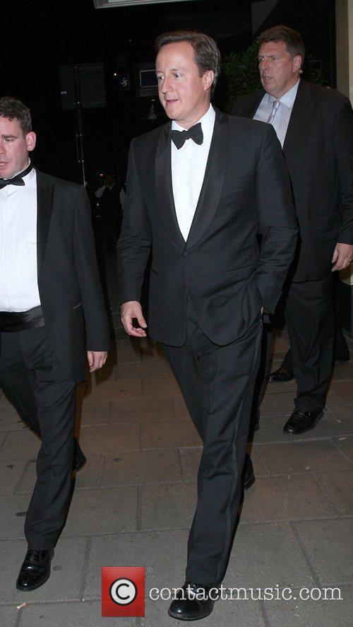 Prime Minister David Cameron leaving the Dorchester Hotel...