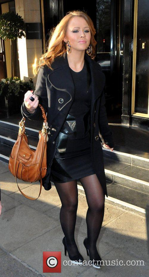 Kimberley Walsh Celebrities outside the Dorchester Hotel. London,...
