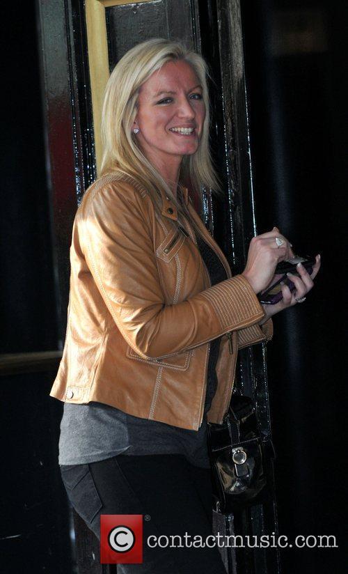 Michelle Malone Celebrities outside the Dorchester Hotel. London,...