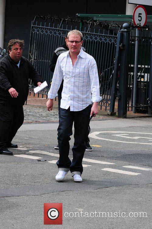 Antony Cotton with fans Coronation Street stars arriving...