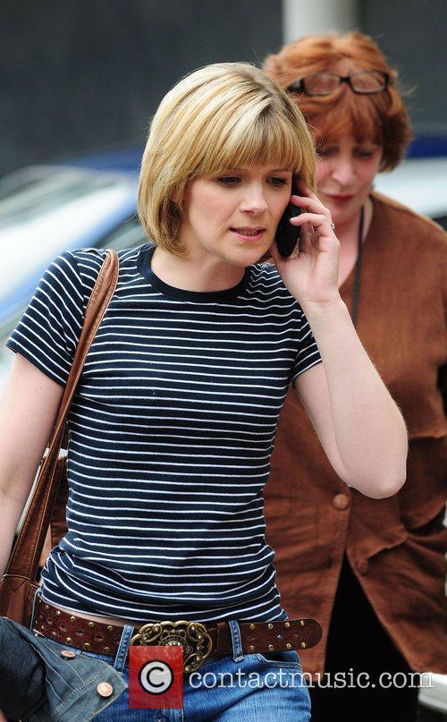 Jane Danson Coronation Street stars arriving at the...
