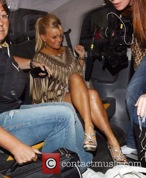 Kerry Katona Celebrities leaving the Dorchester hotel and...