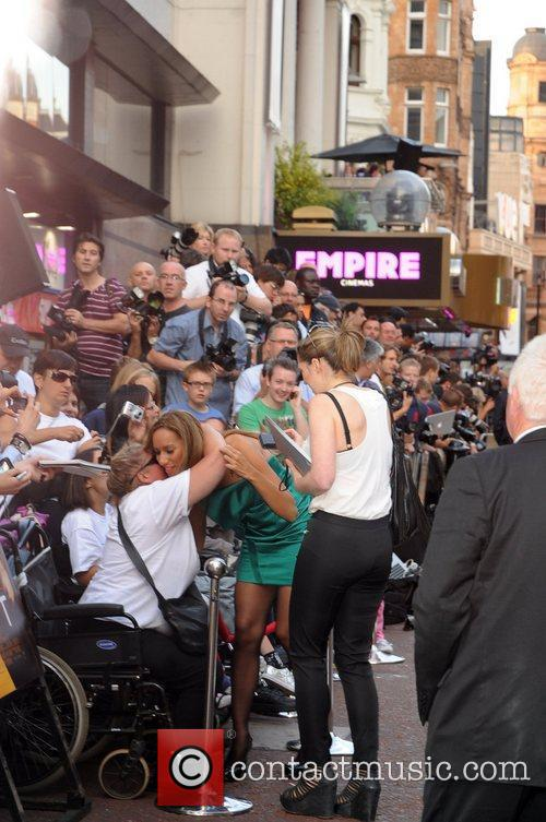 Leona Lewis poses with fans Celebrities leaving the...