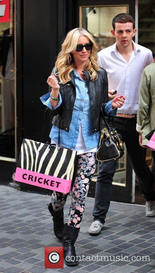 Denise Van Outen was spotted shopping in Liverpool...