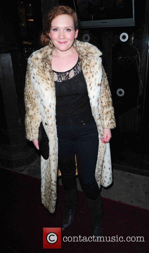 Jenny McAlpine arrives at Circle Bar Coronation Street...