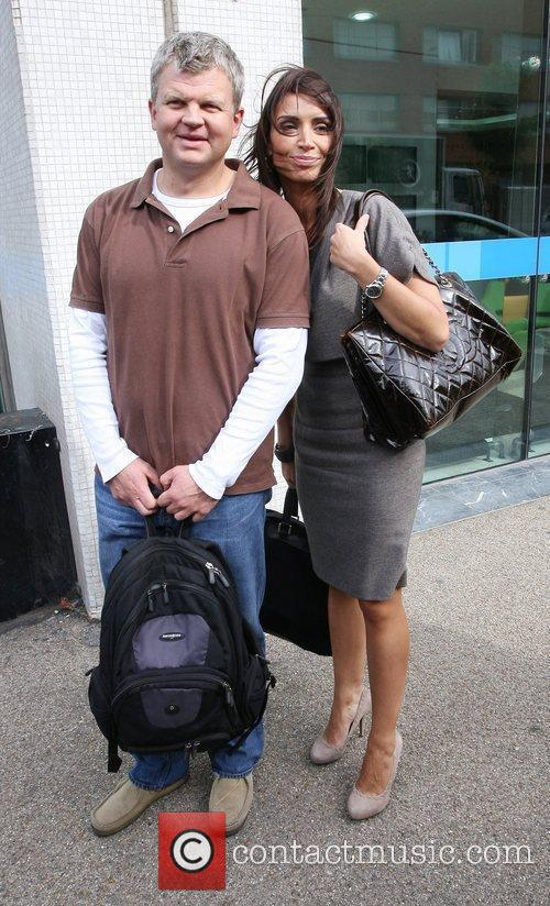 Adrian Chiles and Christine Bleakley leaving the ITV...