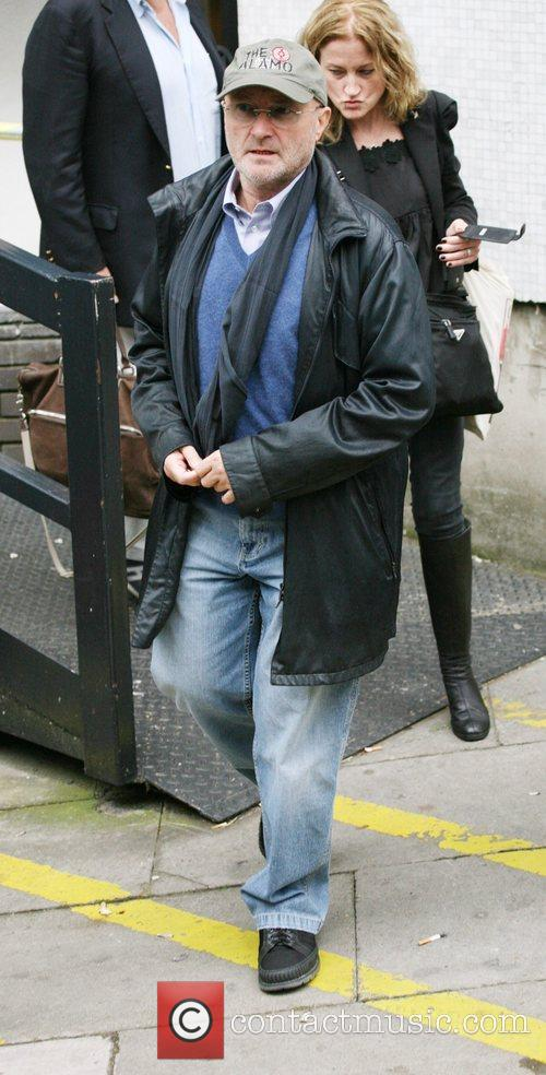 Phil Collins outside the ITV studios London, England