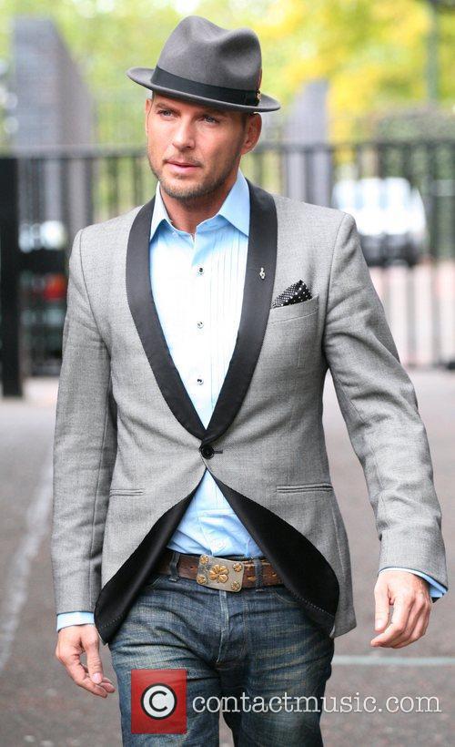 Matt Goss outside the ITV studios London, England