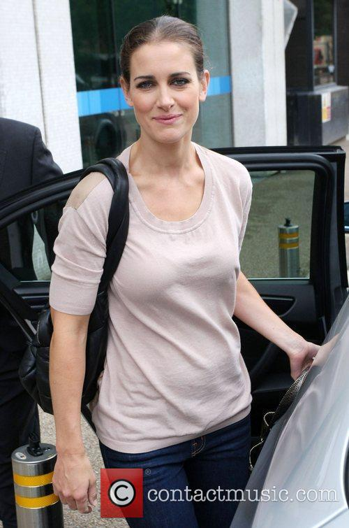 Kirsty Gallacher outside the ITV studios London, England