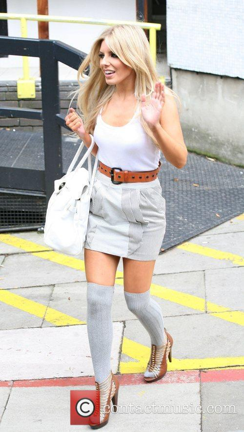 Mollie King The Saturdays leaving the ITV studios...