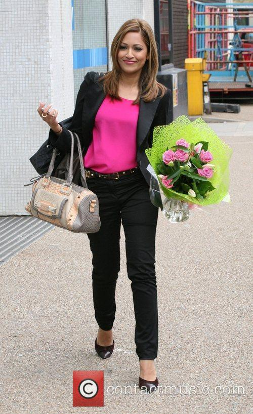 Tasmin Lucia Khan outside the ITV studios...