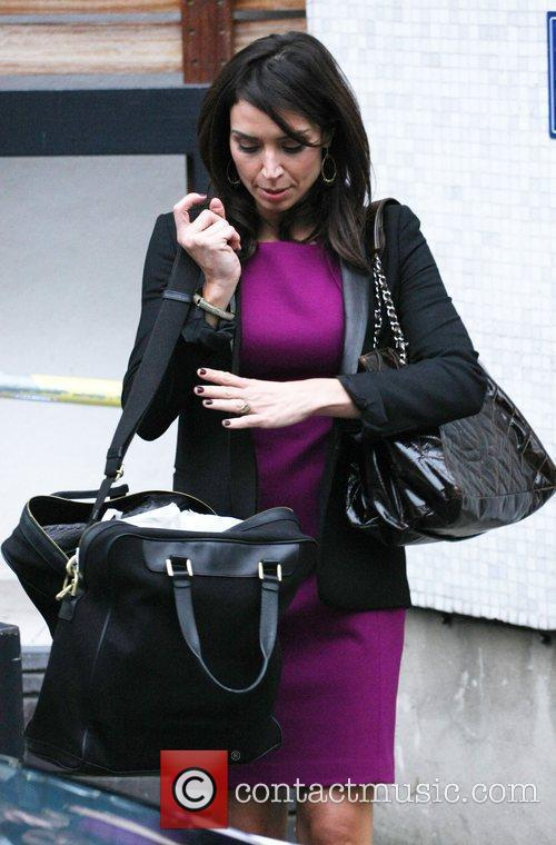 Christine Bleakley celebrities outside the ITV Studios London,...