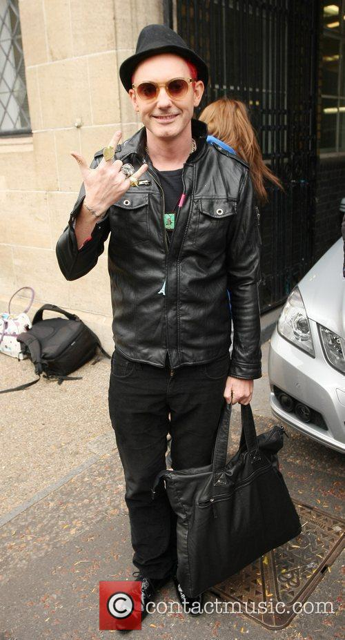 X Factor evictee Storm Lee outside the ITV...