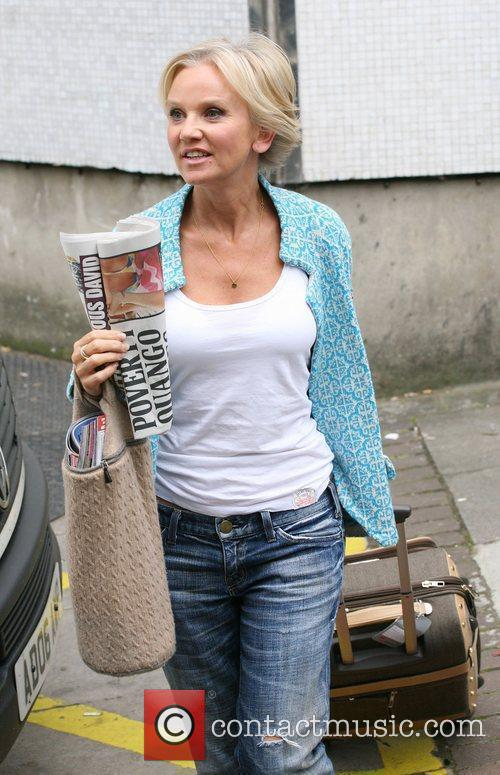 Lisa Maxwell Celebrities outside the ITV television studios....