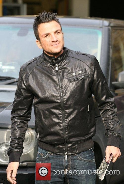 Peter Andre Celebrities outside the ITV television studios....