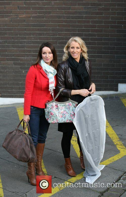 Celebrities outside the ITV television studios.